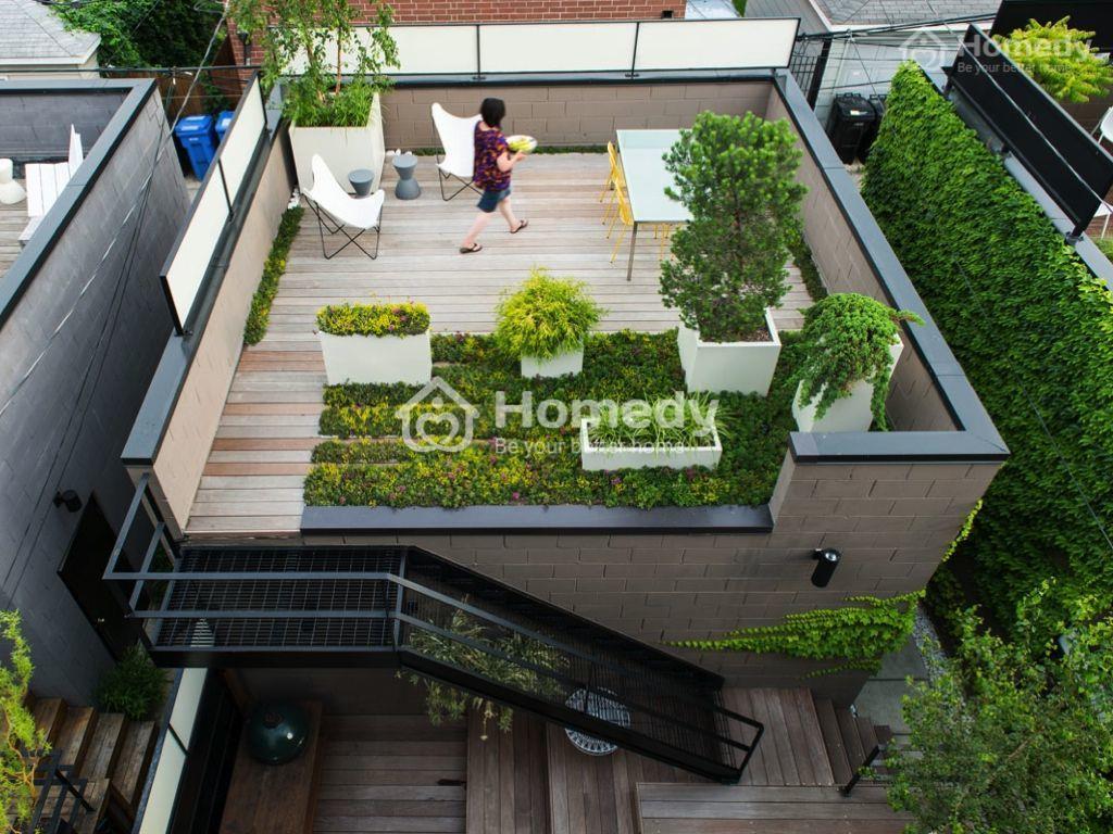 Thiết kế tầng tum làm không gian trồng cây