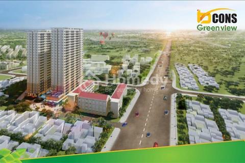 Căn 2 phòng ngủ Bcons Green View MT QL1K đối diện siêu thị Big C Dĩ An thanh toán 450tr sở hữu ngay