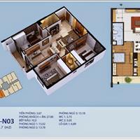 Cho thuê căn hộ quận Hoàng Mai chung cư New Horizon - Hà Nội