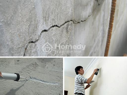 Khắc phục tình trạng tường nứt do quá trình trát tường