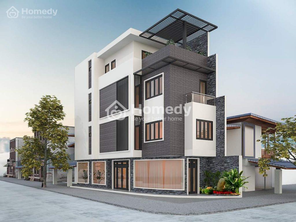 Mẫu thiết kế nhà vừa ở vừa buôn bán 3 tầng