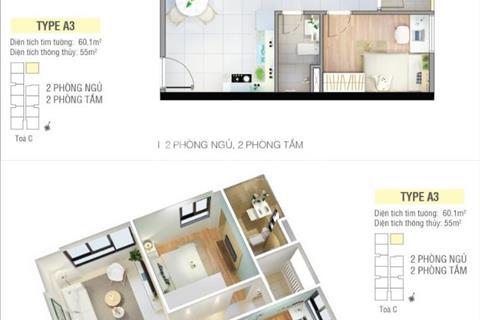 Bán căn hộ 2 phòng ngủ, 2 WC Quận 2 - Giá 1.6 tỷ/căn