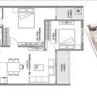 Bán cắt lỗ căn hộ diện tích 66m2, chung cư Samsora, nhận nhà ở ngay