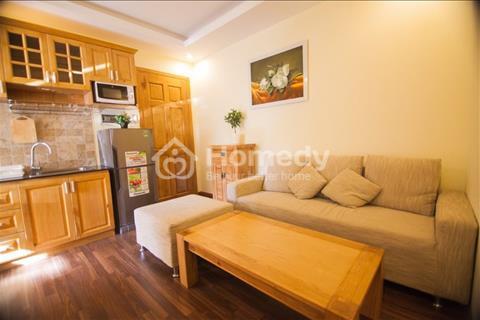 Căn hộ 1 phòng ngủ có ban công 45m2 vô cùng tiện nghi, full toàn bộ nội thất và đồ bếp