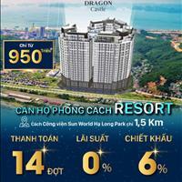 The Dragon Castle - Sở hữu căn hộ phong cách resort giá chỉ từ 950 triệu - Chiết khấu tới 6%