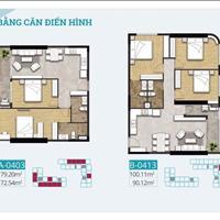 Cần bán căn hộ thiết kế 80m2 - 2 PN - 2WC, khu Chánh Nghĩa, chiết khấu 4%, pháp lí hoàn thiện