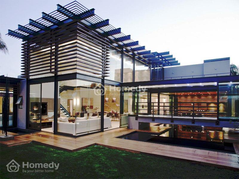 Mẫu nhà ghép 2 tầng đẹp kiểu biệt thự vườn