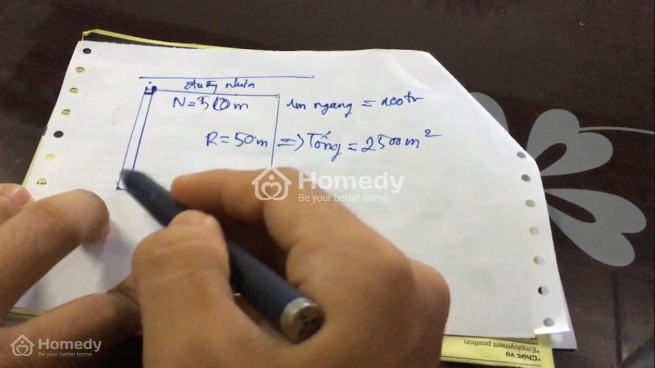 Các bước tính diện tích đất theo đơn vị m2