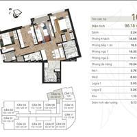 Siêu hiếm, cần bán nhanh căn số 10 tầng trung dự án King Palace - lô góc - 98m2 - 3 phòng ngủ - 2WC