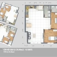 Căn hộ Green Town, diện tích 71m2, 2 phòng ngủ, 2WC, tầng cao, block B4, nhận nhà ở liền giá 1.7 tỷ