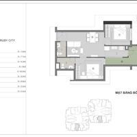 Cần bán gấp căn hộ Ruby City CT3 54m2, đóng 332 triệu nhận nhà ở ngay