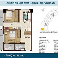Bán căn hộ quận 2 đường Nguyễn Duy Trinh giá 1.7 tỷ, có 2 phòng ngủ, 2 wc, 60m2