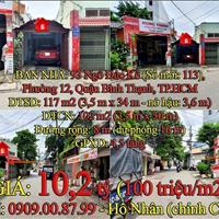 Bán nhà cấp 4 mặt tiền (giá rẻ) 117m2 (3,5×34m), đường 8m (93 Ngô Đức Kế, 12, Quận Bình Thạnh)