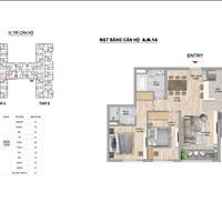 Căn hộ cao cấp The Zei 2 phòng ngủ, 84m2 ban công Đông Nam