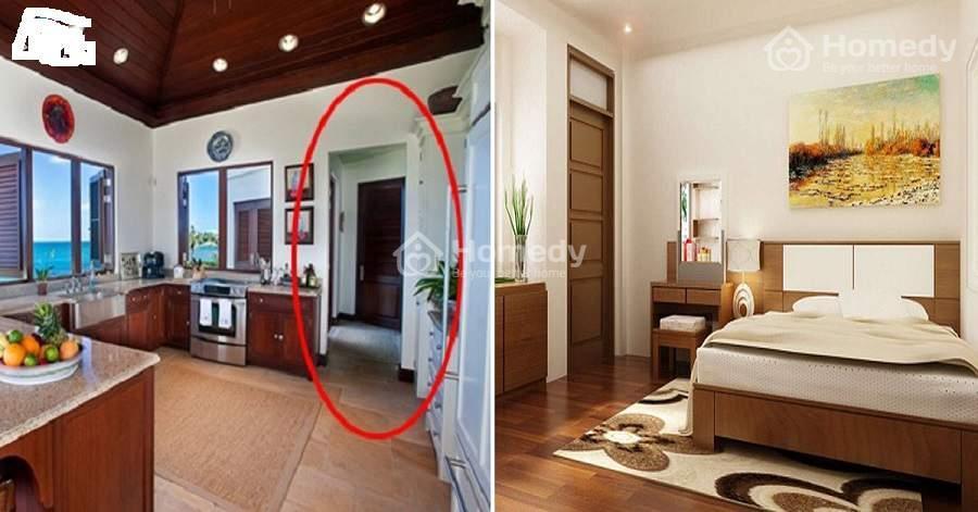 Cần tránh đặt phòng bếp sao cho nhìn được trực diện từ cửa chính