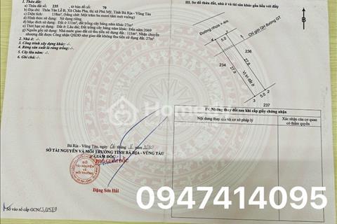 Đất Trung tâm KDC Tx.Phú Mỹ 130-350m2, sổ hồng và thổ cư sẵn giá từ 4 triệu/m2