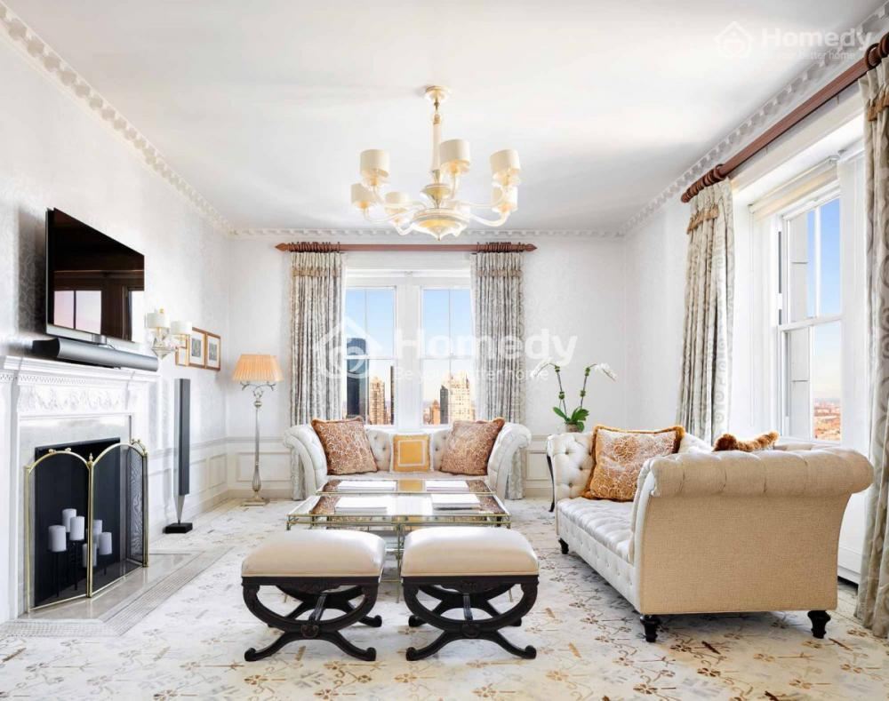 . Căn hộ penthouse này có thể nhìn ra toàn cảnh thành phố Manhanttan, Công viên trung tâm hay cả sông Hudson và sông East.