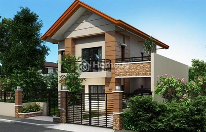 Thiết kế nhà không kém phần hiện đại, sang trọng với phong cách mái Thái.