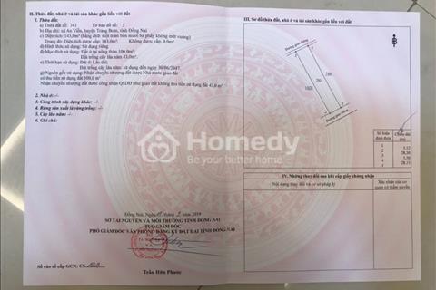 Bán đất huyện Trảng Bom - Đồng Nai giá 900 triệu