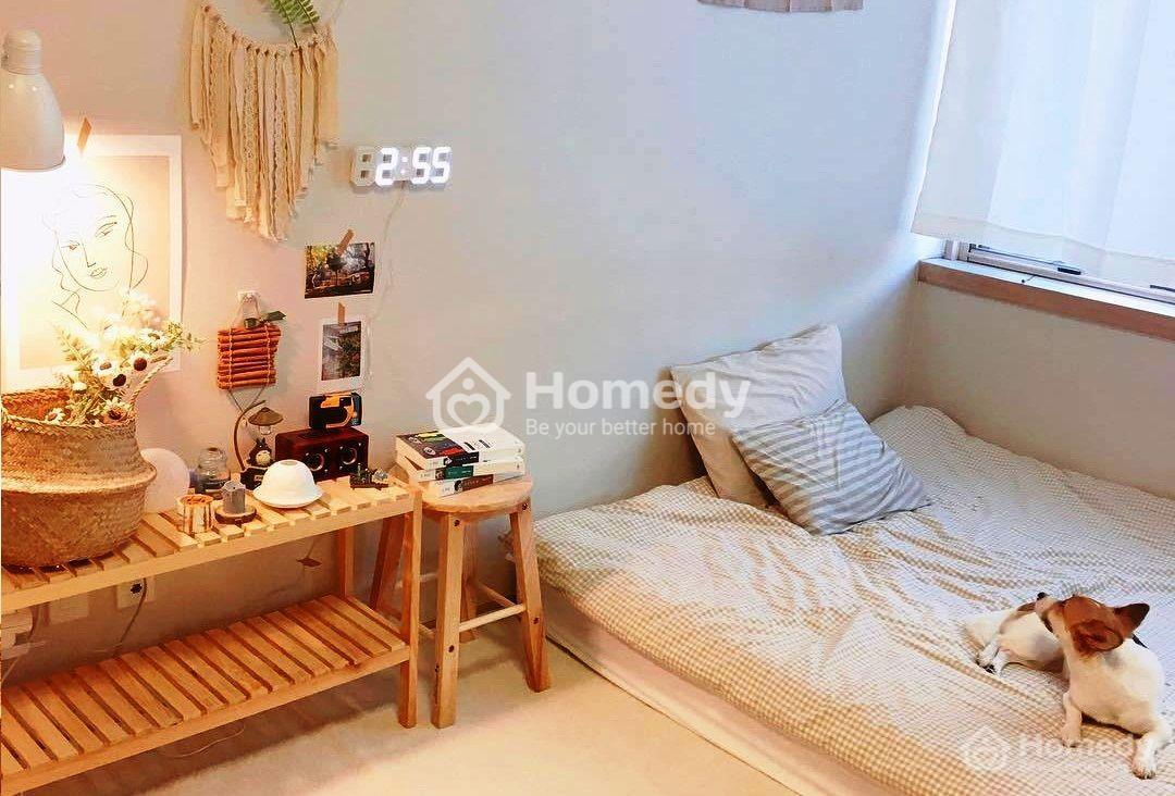 Trang trí phòng ngủ nhỏ cho nữ không giường theo phong cách Hàn Quốc