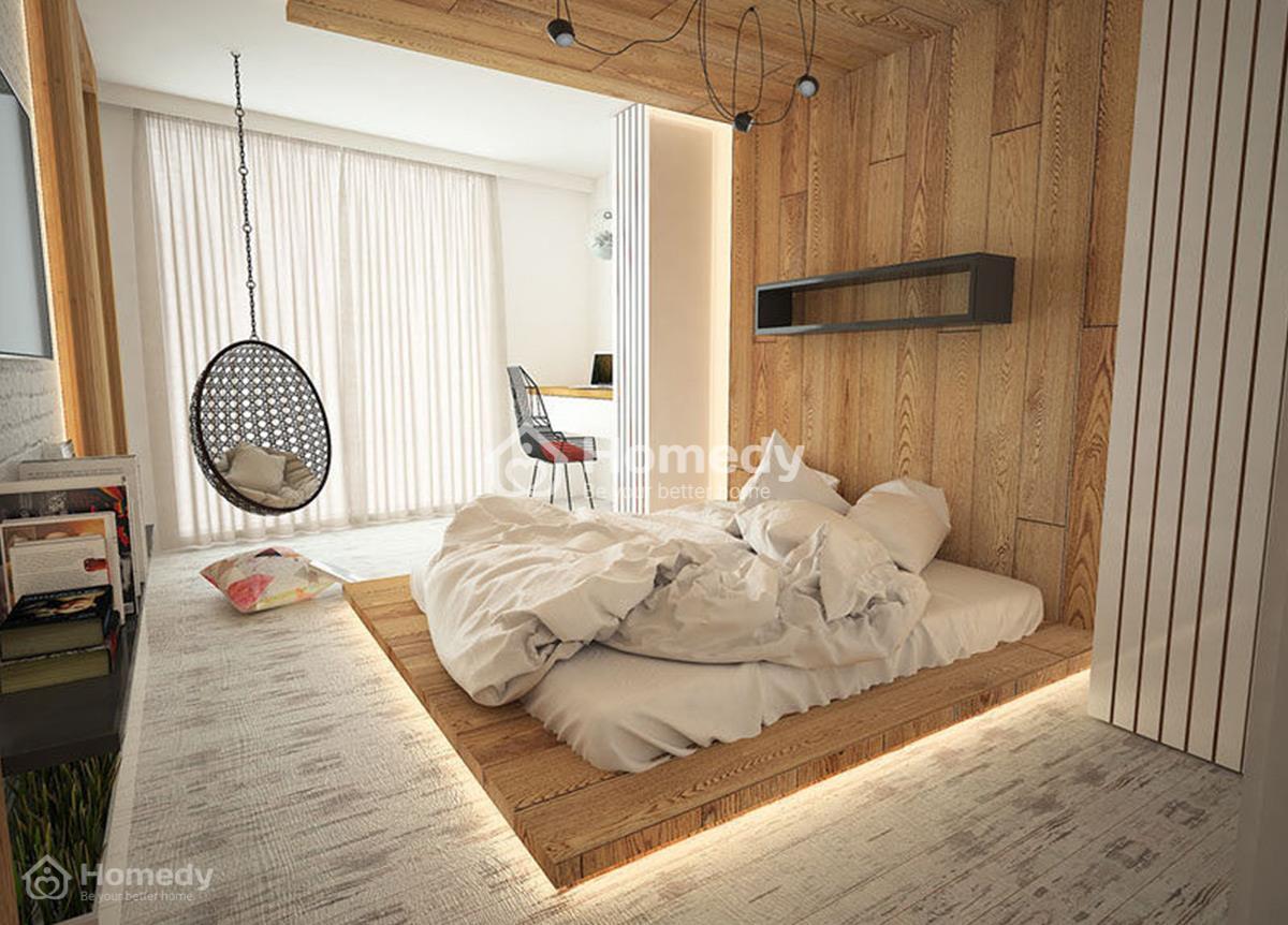 Thiết kế nội thất phòng ngủ không giường theo phong cách Nhật Bản