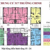 Chính chủ bán căn hộ 1 tầng 22 chung cư 317 Trường Chinh, Thanh Xuân, giá 27 triệu/m2