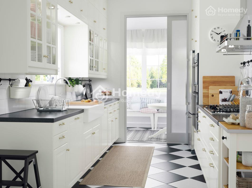 Chọn màu sắc tươi sáng cho căn bếp