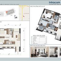 Cho thuê căn hộ tòa Intracom Riverside Vĩnh Ngọc, Đông Anh - Căn góc tầng 10, 2 phòng ngủ