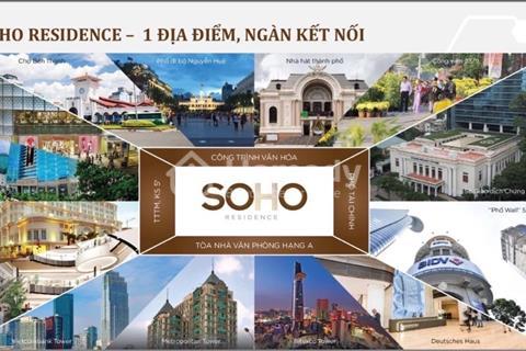 Chính chủ cần sang nhượng gấp căn hộ 2PN, dự án Soho Residence, view nội khu