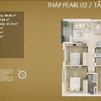 Chính chủ cần tiền gấp bán cắt lỗ căn hộ Mỹ Đình Pearl, 3 phòng ngủ, giá siêu tốt