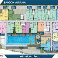 Nhanh tay kẻo lỡ, căn hộ cao cấp Saigon Asiana giá chỉ 45tr/m2 căn hộ ngay trung tâm Quận 6