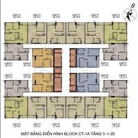 Bán gấp chung cư Hateco Xuân Phương CT1B - 1102 (52m2) & CT1A - 0610 (62m2) giá 27tr/m2