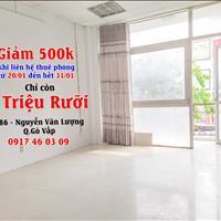 [Giảm 500 ngàn] phòng trọ Gò Vấp có cửa sổ ban công nhà wc riêng rộng rãi