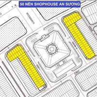 Siêu hot 2021, bán 50 nền shophouse KDC An Sương đối diện chợ Tân Hưng Thuận, Q12 giá 2.5 tỷ/nền