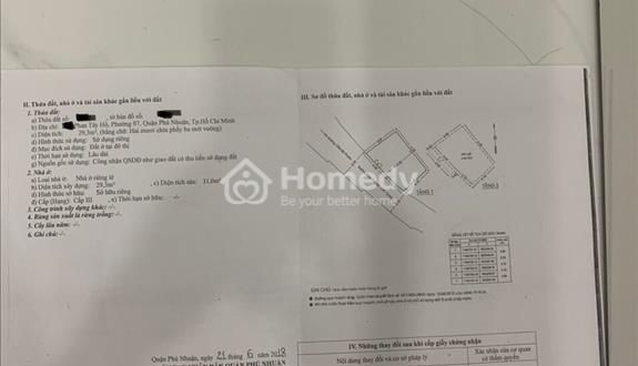 Bán nhà mặt phố quận Phú Nhuận - TP Hồ Chí Minh giá 3.40 tỷ, 30m2