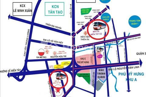 Bán đất nền nhà phố mặt tiền đường Võ Văn Kiệt, Tân Kiên Bình Chánh giá rẻ nhất khu vực sổ đỏ riêng