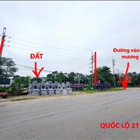 Đất mặt đường khu Công Nghệ Cao gần cầu Đồng Mô, 2 mặt tiền, sổ đỏ chính chủ, Sơn Tây