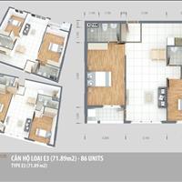 Căn 71.89 m2 giá rẻ nhất dự án, có ban công, lấy sáng tự nhiên, giá 1.85 tỷ, bớt lộc