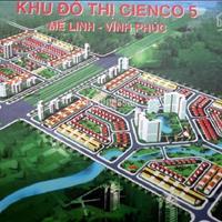 Bán đất nền dự án quận Mê Linh - Hà Nội, Dự án Cienco 5, giá 18,5trieu, S=100m2, ĐT: 0961599799
