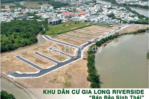 Lô góc 5x22m 1.9 tỷ khu đảo sinh thái Gia Long Riverside, hạ tầng hoàn thiện 100% nền view sông đẹp