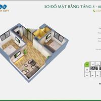 Bán căn hộ 55m2, 2 phòng ngủ, FLC Garden HH1 khuyến mại 70tr