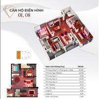 Căn góc 4 phòng ngủ ban công Đông Nam Goldmark City