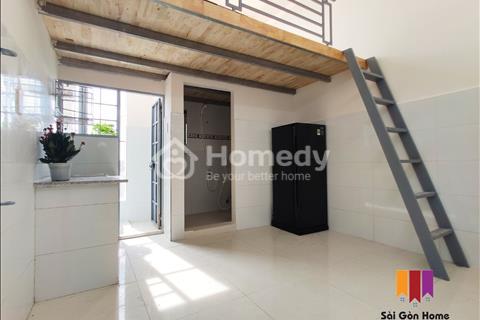 Phòng trọ Cộng Hòa, Tân Bình, mới xây, giá rẻ, giờ giấc tự do, gác cao 1m8, máy lạnh