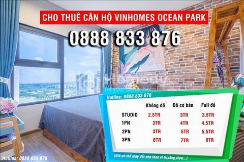 Chính chủ cho thuê căn hộ cao cấp Vinhomes Ocean Park giá chỉ 6tr/tháng full đồ