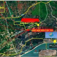 Đất mặt tiền, đường nhựa 20m đối diện sân bay Hồ Tràm Lộc An Bà Rịa Vũng Tàu có 100% sổ đỏ từng nền