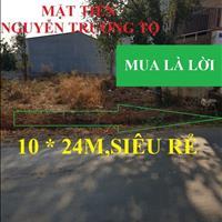 Đất mặt tiền Nguyễn Trường Tộ, 10x24m giá đầu tư