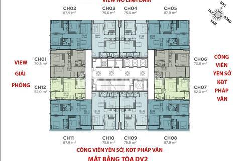Chính chủ cần bán gấp căn hộ chung cư Rose Town, tầng 1808 88m2 thiết kế 3PN giá 2,3 tỷ