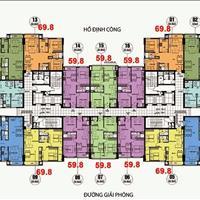 Bán gấp chung cư CT36 Định Công, tầng 1206, DT 59.8m2, giá 1,5 tỷ bao sang tên sổ đỏ