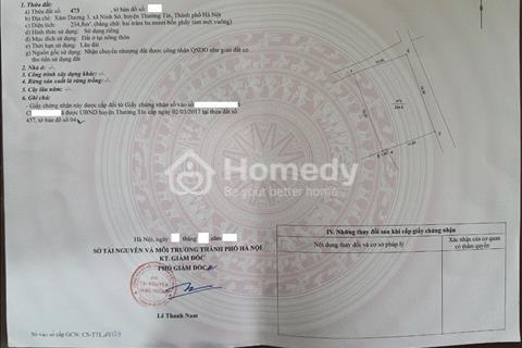 Cần bán lô đất 234,8m2 tại Xâm Dương 3, Ninh Sở, Thường Tín, giá đầu tư