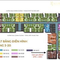 Bán căn hộ Happy One 66m2 full nội thất 2PN 2WC, căn góc view đẹp giá 1.8 tỷ nhận nhà ở ngay T4